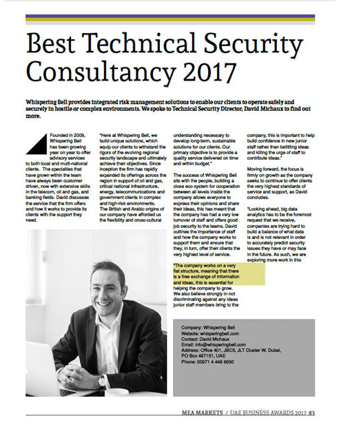 Best Technical Security Consultancy 2017