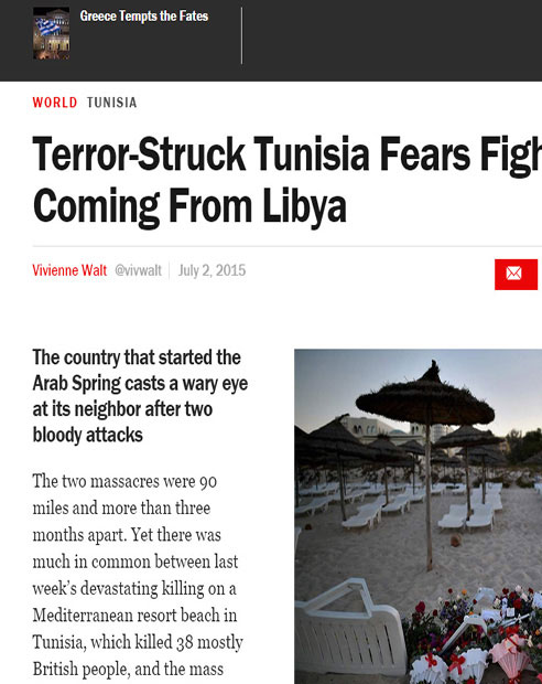 Terror-Struck Tunisia Fears Fighters Coming From Libya