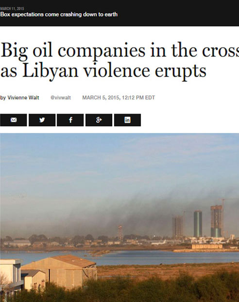 Big oil companies in the cross fire as Libyan violence erupts