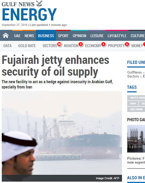 Fujairah jetty enhances security of oil supply