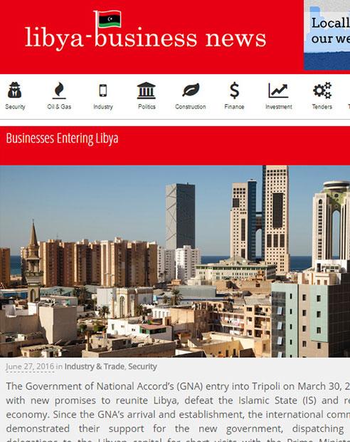 Businesses Entering Libya